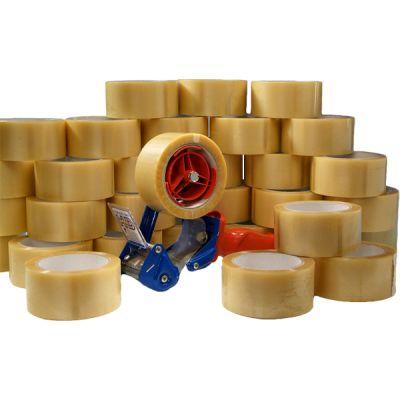 Klebeband-Set für Profis bestehend aus: 1 Stk. Handabroller und 36 Rll. Klebeband transparent