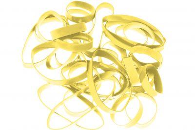 Synthetikbänder H+D LatexFree®, gelb 110 mm Ø x 2 x 1 mm lose geschüttet Pantone 106 U
