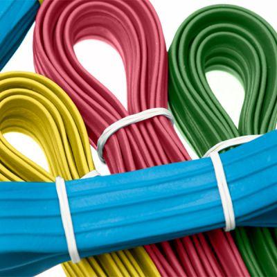 Gummi-Palettenspannbänder profiliert grün Umfang 2800 mm