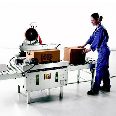 Kartonverschließmaschine (Kartonverschließer) für Selbstklebeband