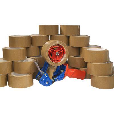 Klebeband-Set für Profis bestehend aus: 1 Stk. Handabroller und 36 Rll. Klebeband braun