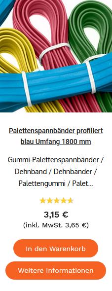 Palettenspannbänder profiliert blau Umfang 1800 mm