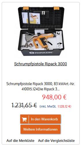 Schrumpfpistole Ripack 3000